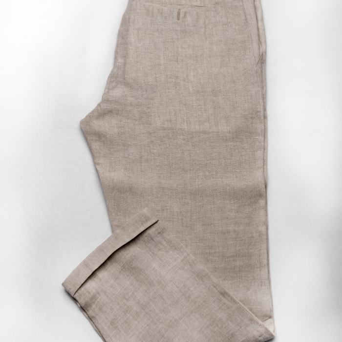 Light Beige Linen Trouser